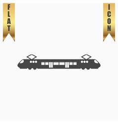 Suburban electric train vector