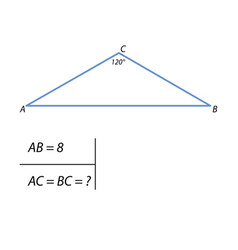 The task of finding the side of a right triangle vector