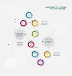 timeline infographic template 8 step option design vector image vector image