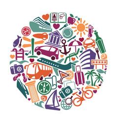 tourism symbol vector image