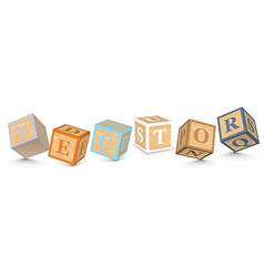 Word written with alphabet blocks vector image