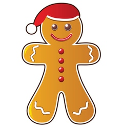 Gingerbread cookie vector