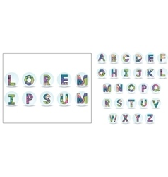 Card with alphabet set vector image