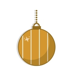 Isolated sphere of christmas season design vector