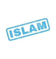 Islam rubber stamp vector