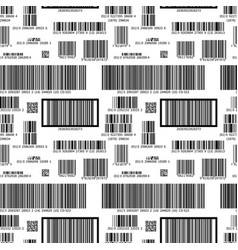 different barcodes on white pattern vector image