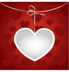 Heart on a string frame vector