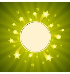white frame on sparkle background vector image