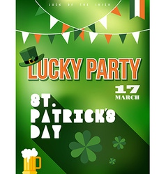 St patricks day party poster vector