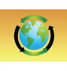 Eco World vector image