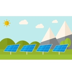 Four solar panels vector