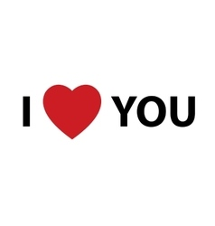 I Heart You design element for Valentines day vector image
