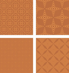 Copper color seamless pattern background set vector
