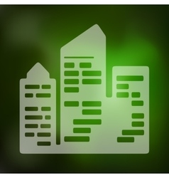 City skyscrapers icon on blurred background vector