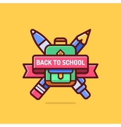 Back to school badge Education logo icon vector image