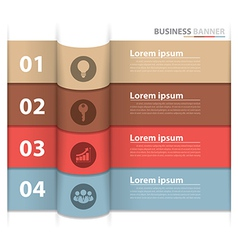 Banner business infographics2 vector image vector image