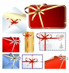 Christmas mail vector image