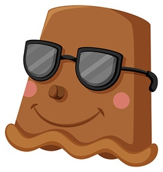 Clay pot with happy face wearing sunglasses vector