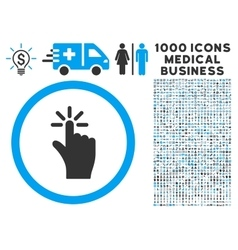 Click icon with 1000 medical business pictograms vector
