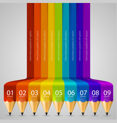 Colour abstract pencil background vector