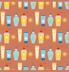 cream sunscreen bottle sunblock cosmetic summer vector image
