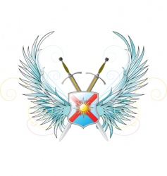 crossed swords vector image vector image