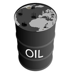 Extraction of petroleum products vector image