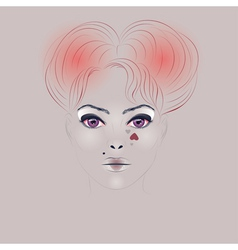 Fashion Girl with Hair3 vector image