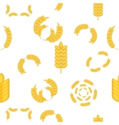 Grain of wheat pattern cartoon style vector