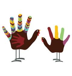 Hand turkey bird vector