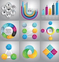Infographics Design Templates set vector image vector image