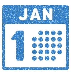 January first grainy texture icon vector