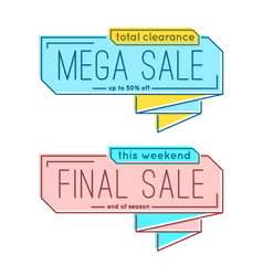 minimal style flat trendy bubble shaped banner vector image vector image
