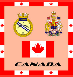 Official government elements of canada vector