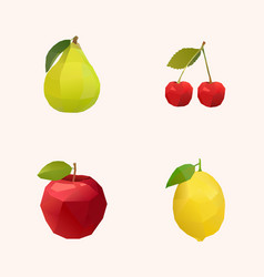 Peak cherry apple and lemon vector