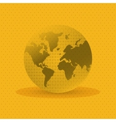 Planet design World icon Flat vector image vector image