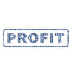 Profit textile stamp vector