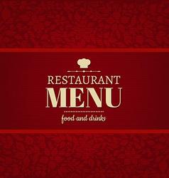 Restaurant Menu Card vector image vector image