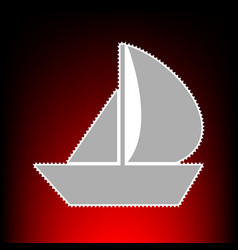 sail boat style vector image vector image