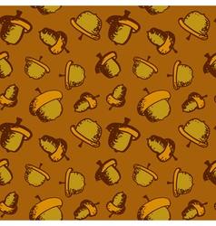 Seamless acorn pattern vector image vector image