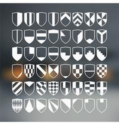 Set of 48 blank of retro shields vector