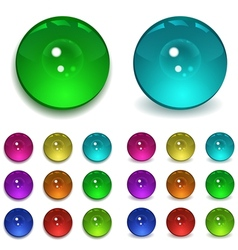Set of multicolored beads vector