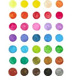 Set of multicolored watercolor dots vector