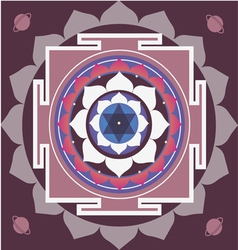 Spring yantra of saturn vector