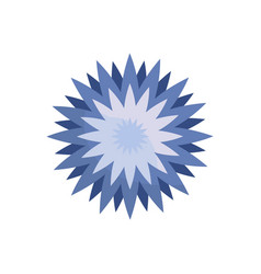 Star flower spring icon vector
