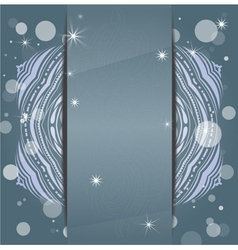 Winter layout vector image