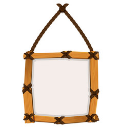 wooden frame hanging on wall vector image