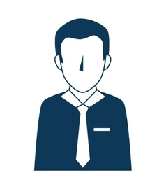 Man adult suit tie vector
