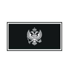Flag of montenegro monochrome on white background vector