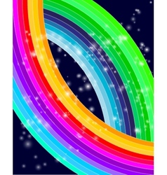 Abstract futuristic colored rainbow background vector image